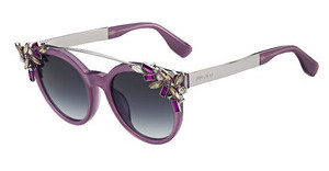 Jimmy Choo VIVY/S 1UQ/9O DARK GREY SFVIOLET PD